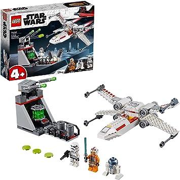 LEGO Star Wars Asalto a la Trinchera del Caza Estelar Ala X, juguete de construcción de nave espacial de La Guerra de las Galaxias (75235)