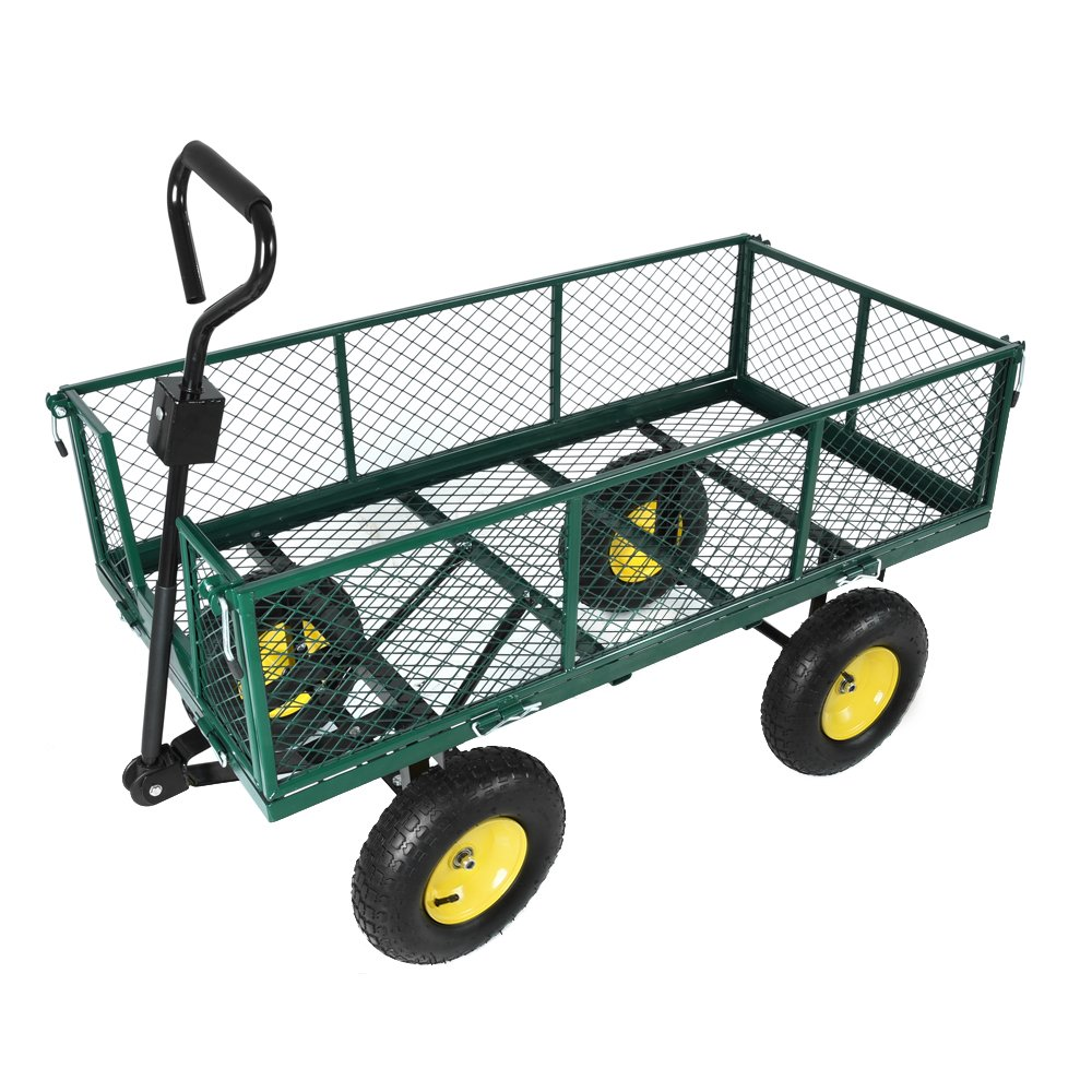 Panana Handwagen mit herausnehmbarer Plane 500k Luftreifen Transportkarre Gerätewagen Gartenwagen