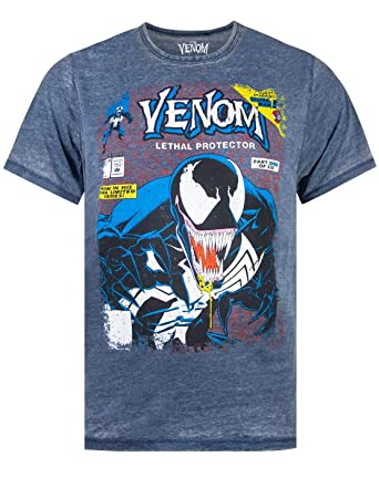 Marvel Venom Comic Cover Mens Burnout T-Shirt ...