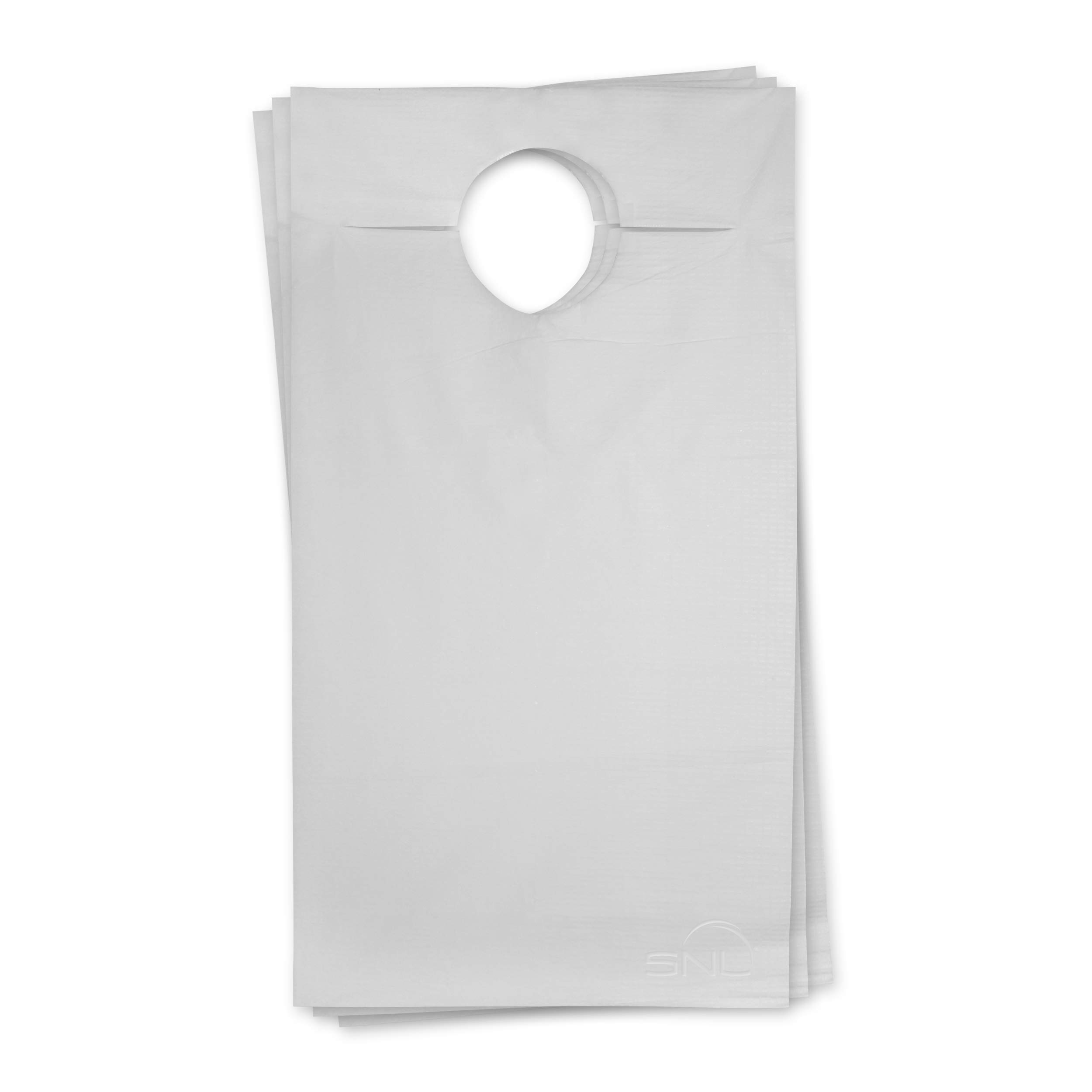 SNL Quality Disposable Adult Poly-Lined Bibs - 16'' X 33'' - Overhead (Pack of 150) by SNL