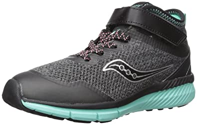 8a4115cd4b6c Saucony Girls  Ideal Mid Sneaker Black Turquoise 1 Medium US Little Kid