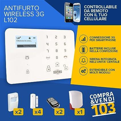 compraevendi103 Kit Alarma GSM Antirrobo Inalámbrico para ...
