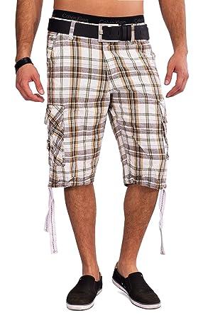 fd249752e4bc18 Herren Cargo Shorts 3/4 Sommer Hose Glencheck Karo Bermuda H1568:  Amazon.de: Bekleidung