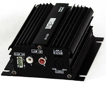 Mini etapa de potencia / Amplificador de 2 canales - 12v - Para coche o moto
