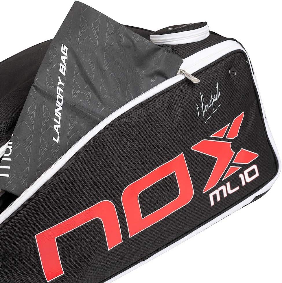 NOX ML10 Competition Paletero, Juventud Unisex, Negro Rojo, 70x45x30cm