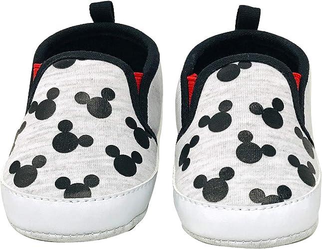 Disney Baby Mickey Mouse Boys Newborn Infant Prewalker Soft Sole Crib Shoes