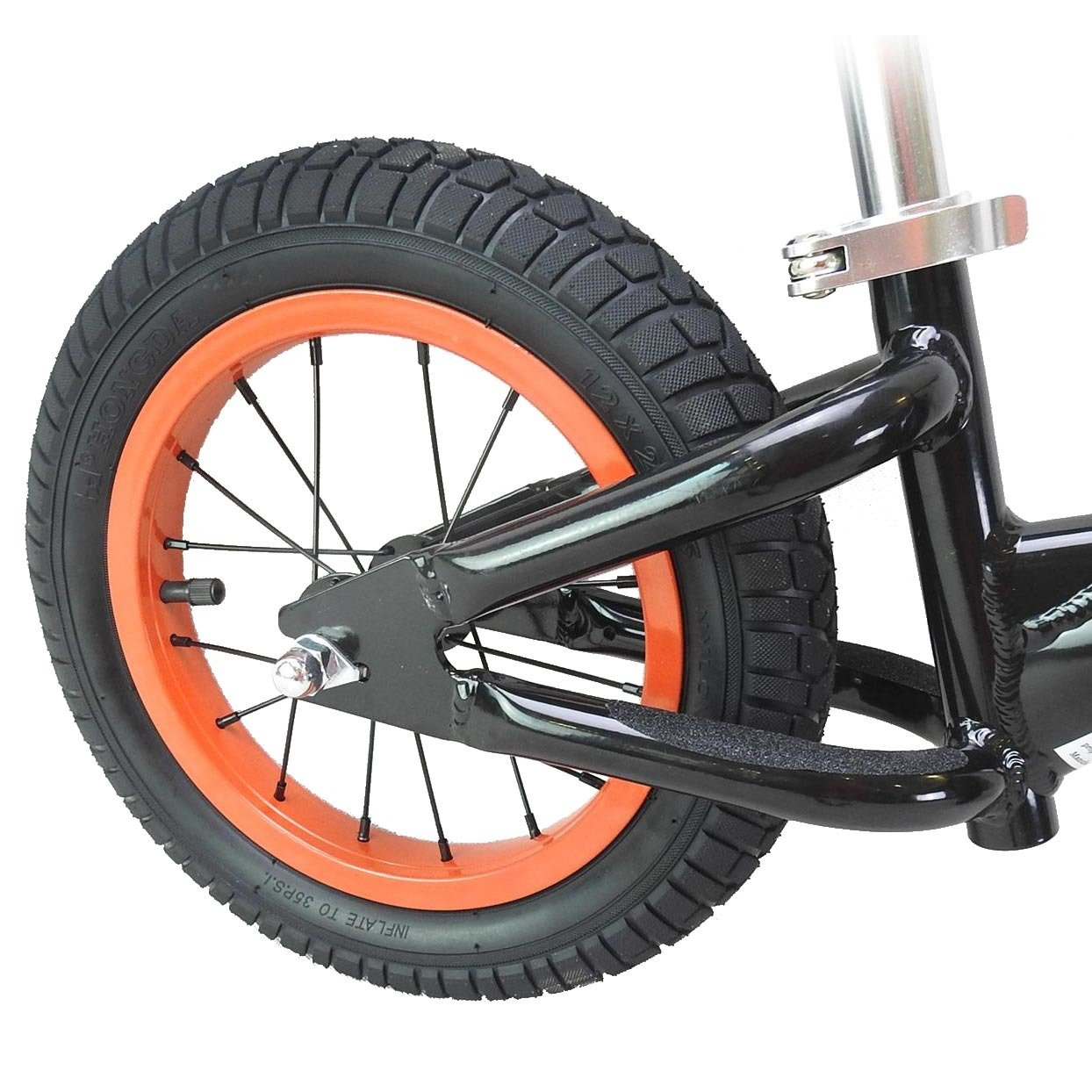 CyclingDeal Alloy Kids Push Balance No-Pedal Bike 12'' Black by CyclingDeal (Image #4)