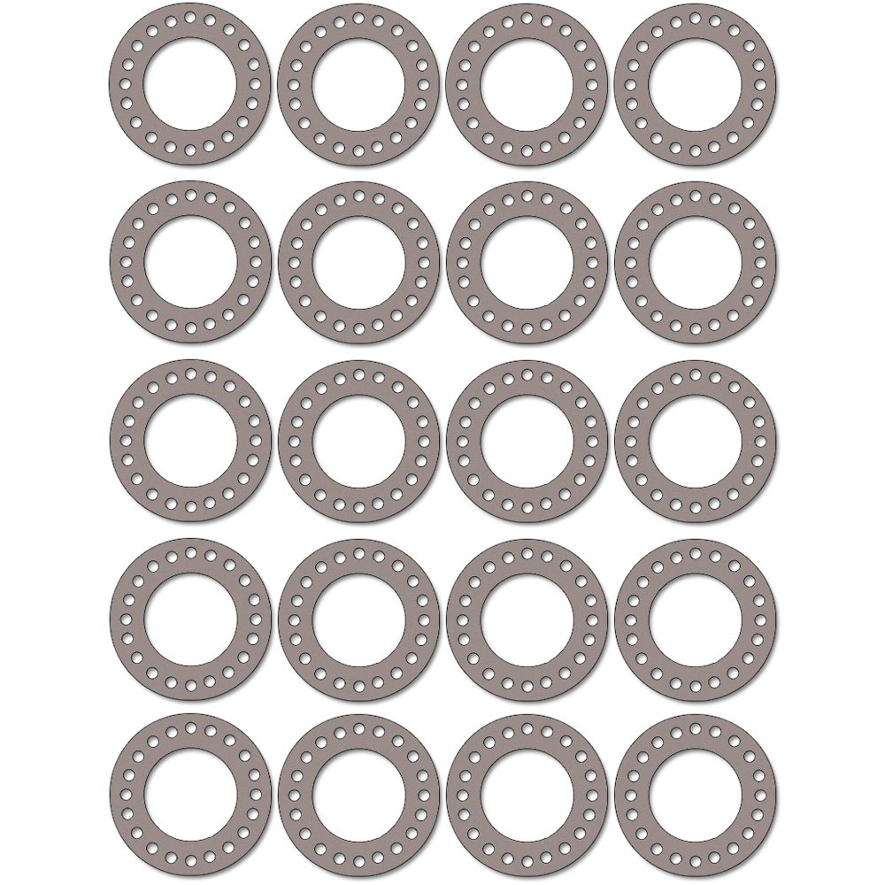 Pack of 20 1//32 Thick 14 Pipe Size Tan Sterling Seal CFF7540.1400.031.300X20 7540 Vegetable Fiber Full Face Gasket Pressure Class 300#