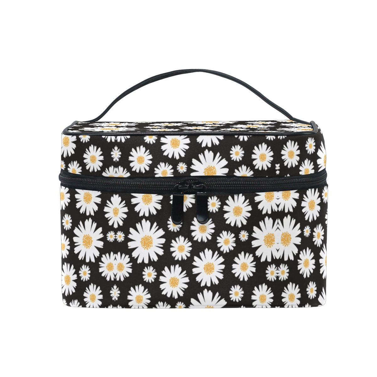 Makeup Bag Vintage Fresh Daisy Travel Cosmetic Bags Organizer Train Case Toiletry Make Up Pouch