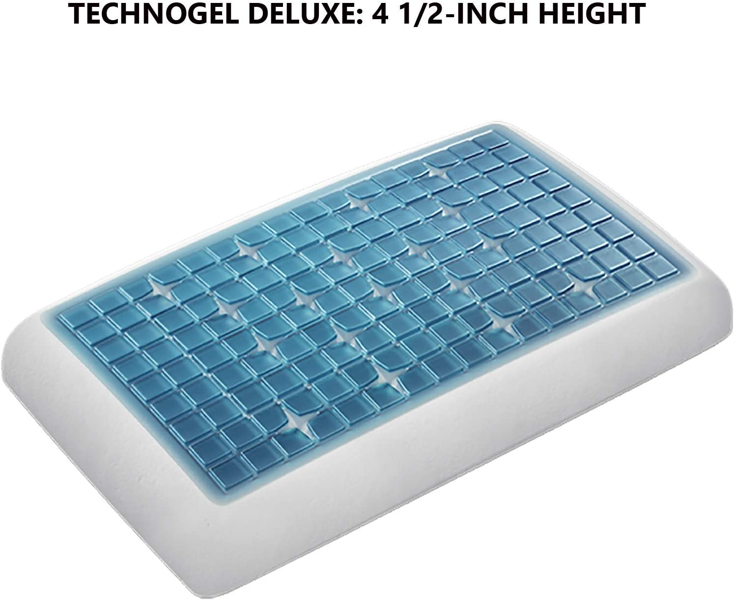 11 cm Technogel Deluxe cushion for neck support pillow with cooling gel pad 40 x 80 cm various cushion heights Plastic