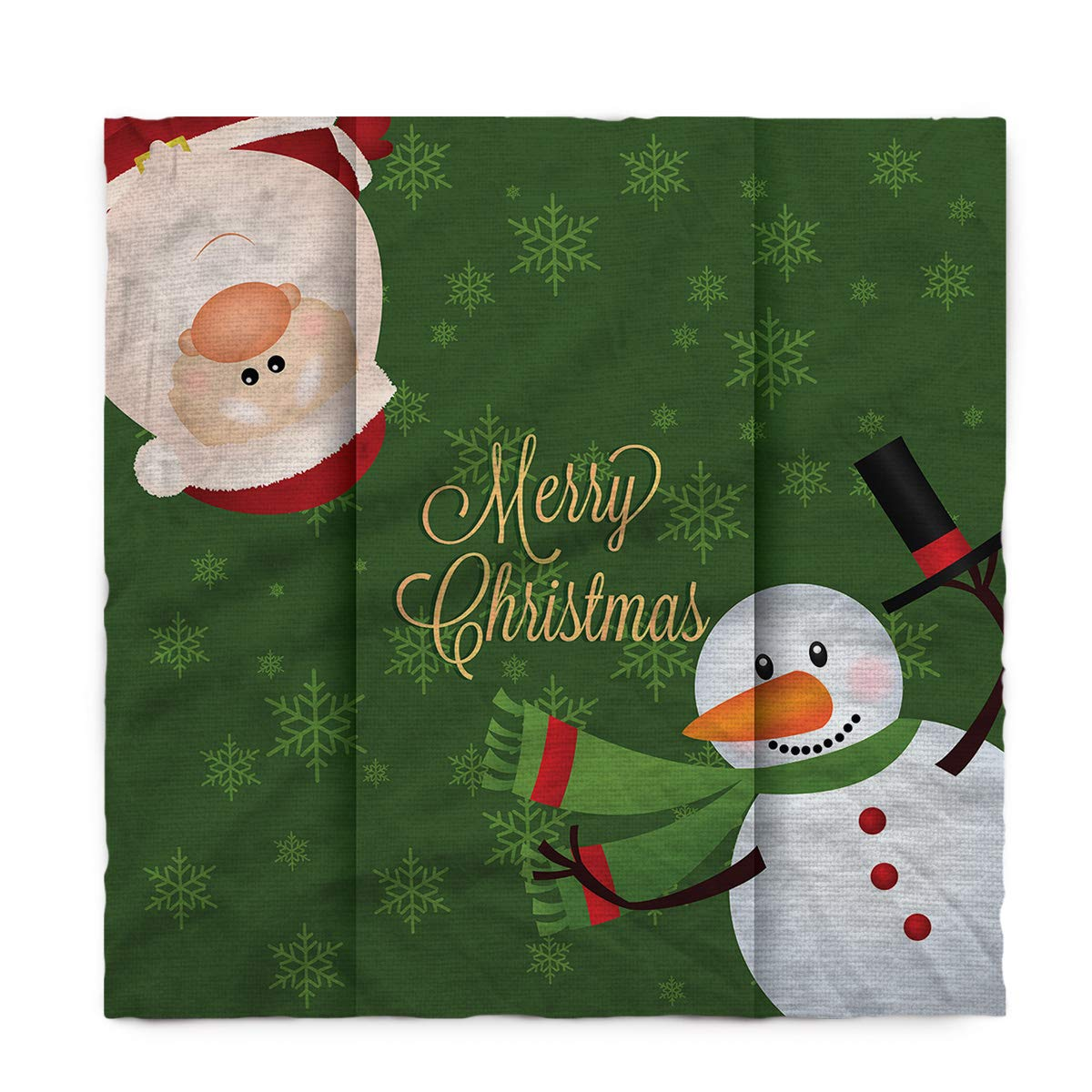 Seven Sunshine コットンリネン テーブルカバー こぼれないテーブルクロス キュートなクリスマス雪だるまとサンタクロース キッチンダイニング宴会/パーティー/パーティー用装飾テーブルクロス テーブルトップ ピクニックディナー 60×120inch ZBUFLYX2832B18928-BSLEX00058ZBALSSE 60×120inch  B07HRLJVV7