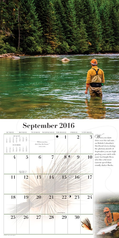 Fly Fishing Dreams 2016 Square 12x12 Wyman by BrownTrout Publishers