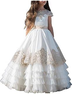 Robe De Fille Enfant Enfant Robe De Mariage De Fleur Robe De Soirée Robes  De Fête f5766da568f