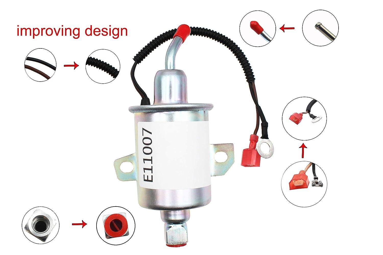Electric Fuel Pump Replaces for Airtex E11007 A029F889 149-2311 149-2311-02  149-2311-01 149231101,Fit Onan 4000 4Kw Gas RV Cummins Generator Microlite