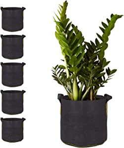 5 Gallon Aeration Fabric Pots with Handles for Plants, Vegetables & Flowers - 5 Pack