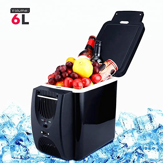 350de3af23f Image Unavailable. Image not available for. Color  CAR REFRIGERATOR 12V 6L  Capacity Camping Cool Box Portable Car Refrigerator Cooler and Warmer ...