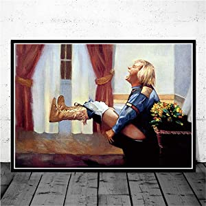 YuFeng Art Inn Modern Wall Poster Art Print Oil Painting on Canvas Home Decor Wall Decoration Canvas Art Dumb and Dumber Funny Toilet Poster (Unframed-No Framed,12x16inch)