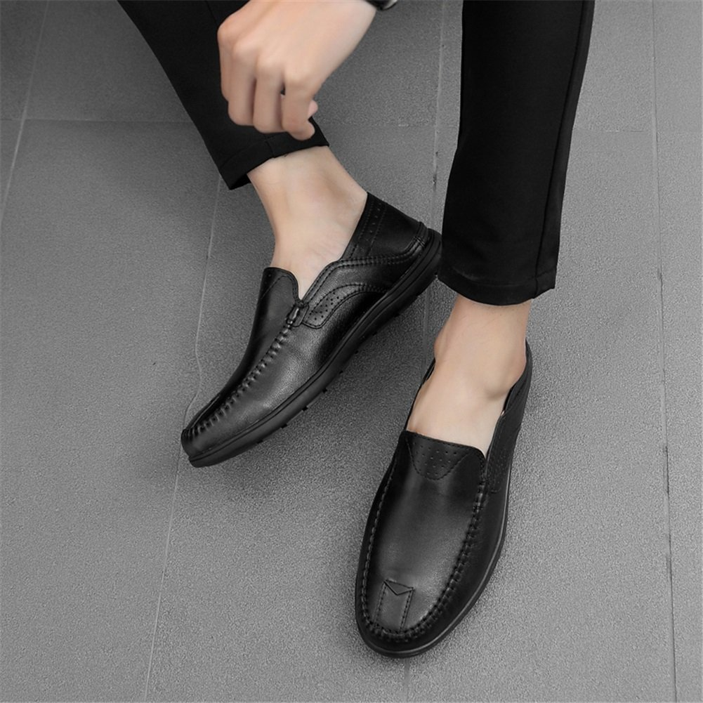 Color : D, Size : 45 XUEXUE Mens Shoes Leather Spring Summer Comfort Loafers /& Slip-Ons Driving Shoes Walking Shoes Breathable Casual Office /& Career Formal Business Work
