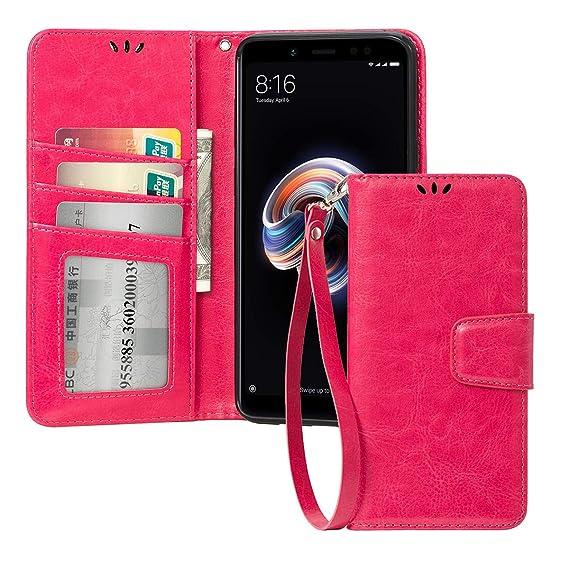 wholesale dealer 3f19b 97f24 Amazon.com: Redmi Note 5 Pro Phone Case,PU Leather Rugged TPU Bumper ...