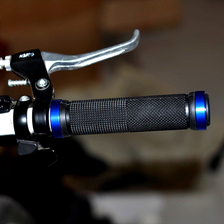 WangXinL Puños del manillar de la bicicleta, agarre de la manija de la bicicleta con doble cerradura, para ATV, BMX, montaña, cuesta abajo, ...