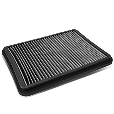 Replacement for 4Runner / Sequoia/Tundra 4.7L Reusable & Washable Replacement High Flow Drop-in Air Filter (Silver): Automotive