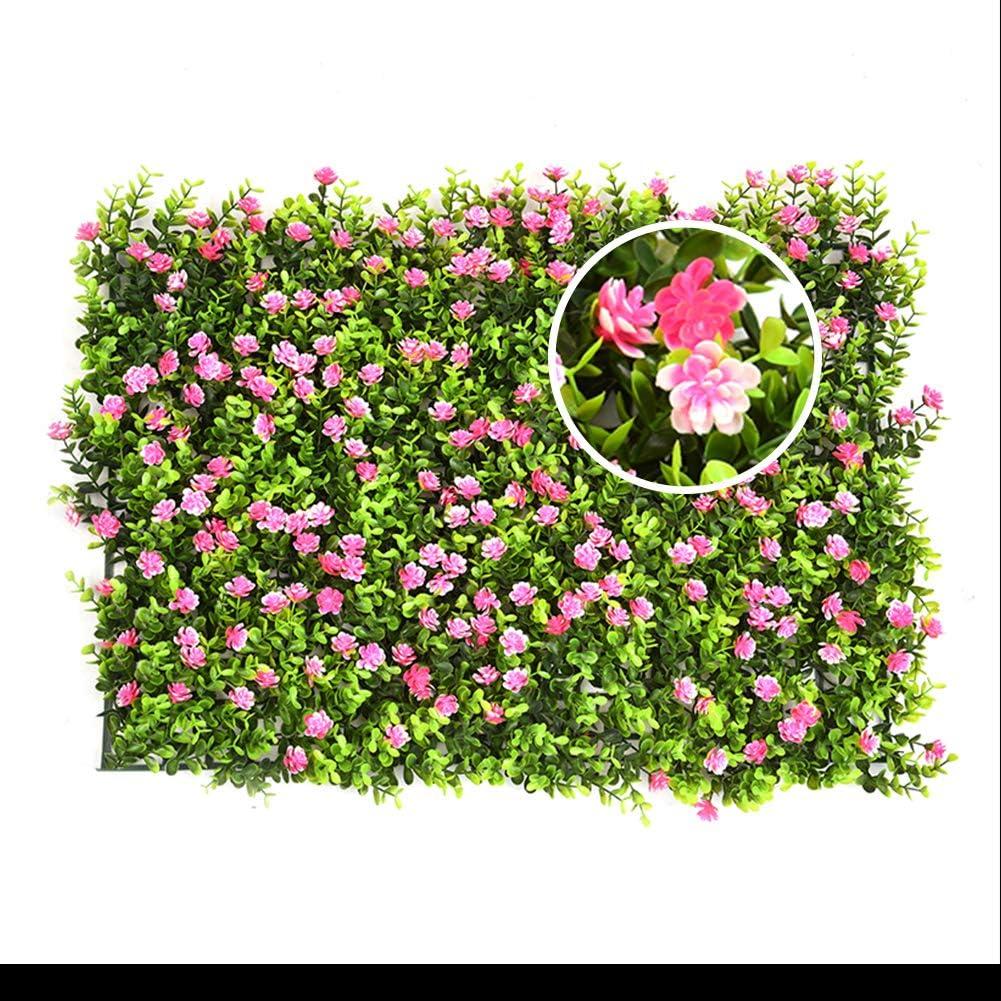 seto artificial con flores faux greenery privacidad pantallas ...