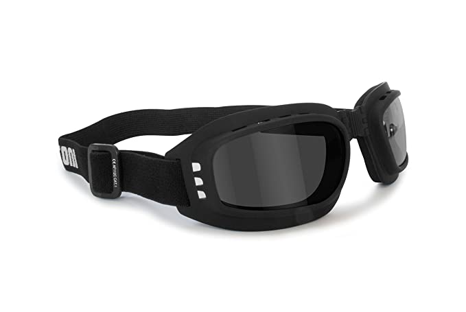 BERTONI Gafas Moto con Lentes Snap-on antiappannanti Antifog ...