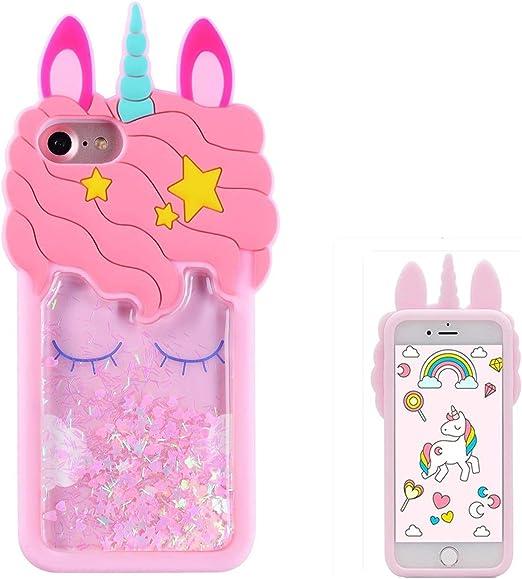 Joyleop Quicksand Unicorn Case for iPhone 5 5C 5S,Cute 3D Cartoon Animal Cover,Kids Girls Cool Fun Glitter Soft Silicone Gel Rubber Bling Kawaii ...