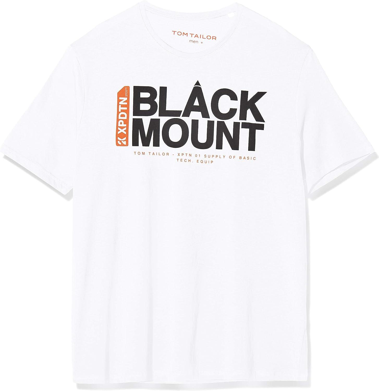 TOM TAILOR Men+ Print Camiseta para Hombre: Amazon.es: Ropa y accesorios