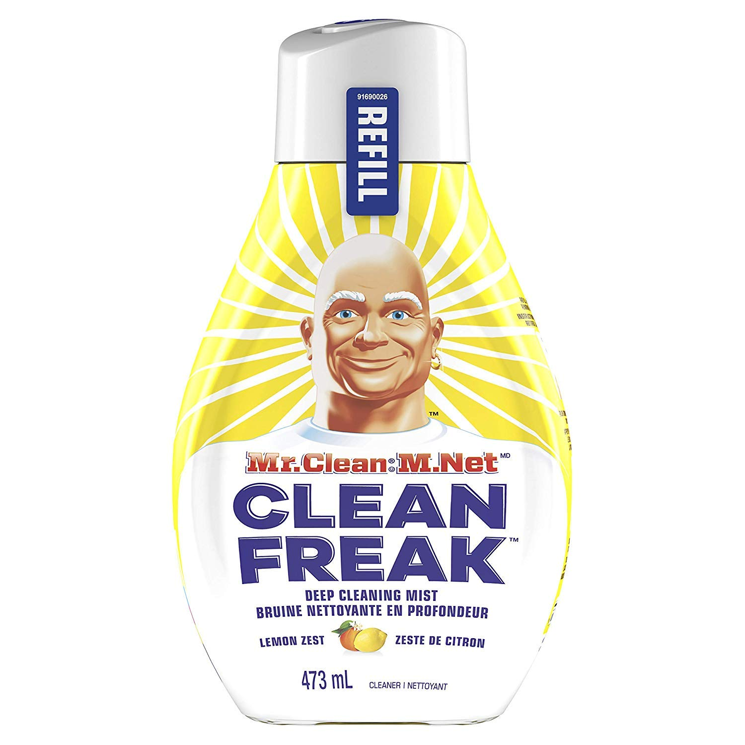 Mr. Clean Freak Deep Cleaning Mist Multi-Surface Spray Lemon Zest Bundle, 1 Starter + 1 Refill by Mr Clean Freak (Image #3)