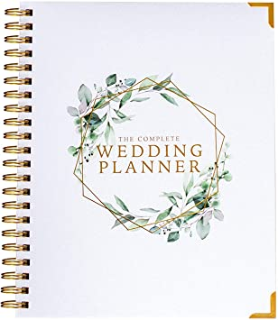 Amazon Com Wedding Planner Organizer Floral Gold Edition Diary Engagement Gift Book Calendar Office Products
