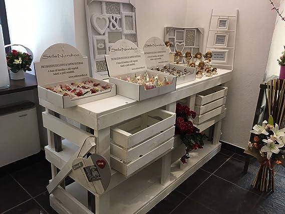 Mesa escritorio de madera, fabricada con palets (cajas de fruta de madera) reciclados, 180 x 60 cm: Amazon.es: Bricolaje y herramientas