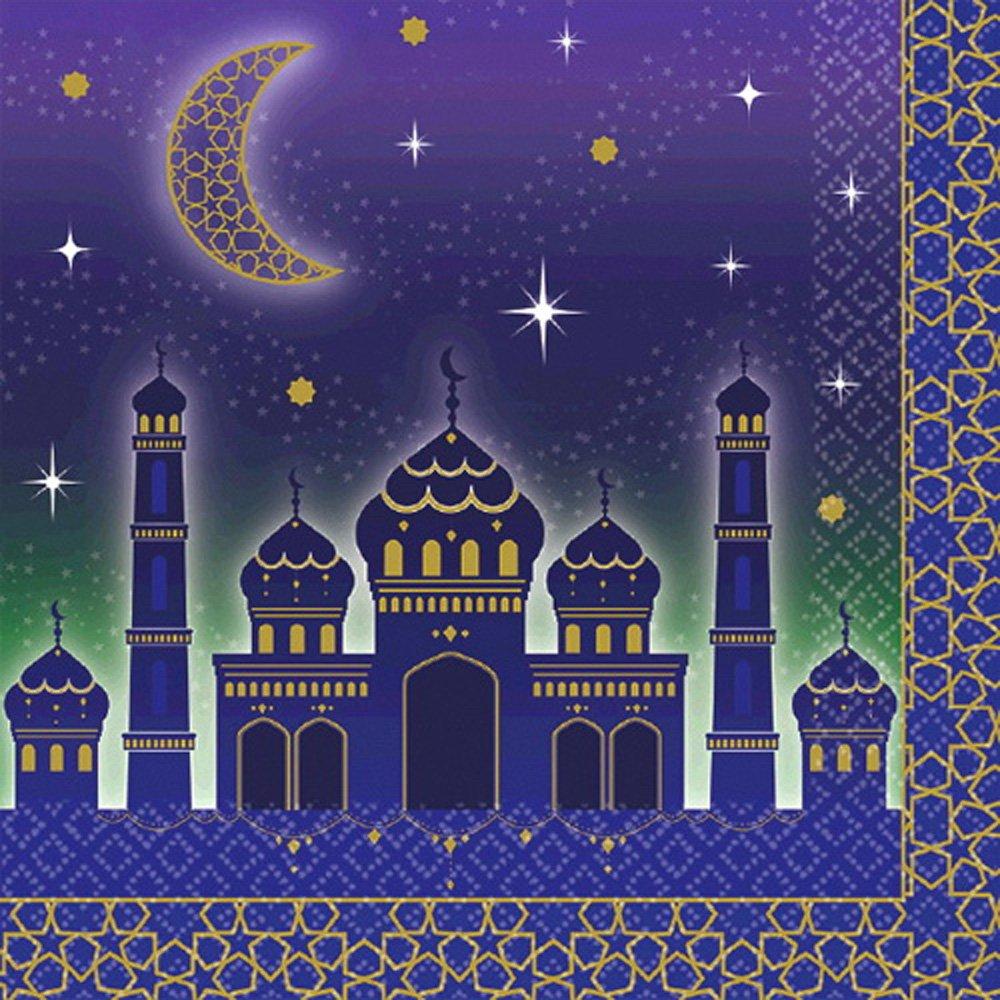 ラマダン' Eid Mubarak ' Lunch Napkins ( 16ct ) B07BYQM5HQ
