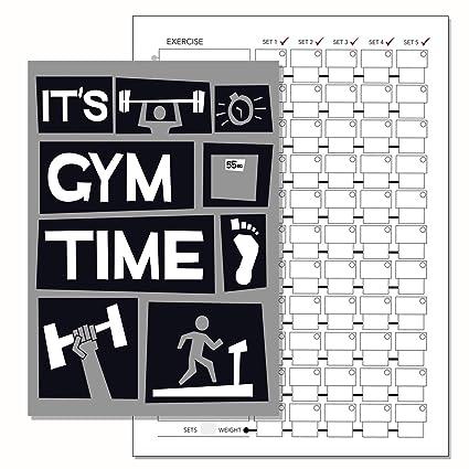 Gimnasio diario, entrenamiento con pesas libro de registro ...