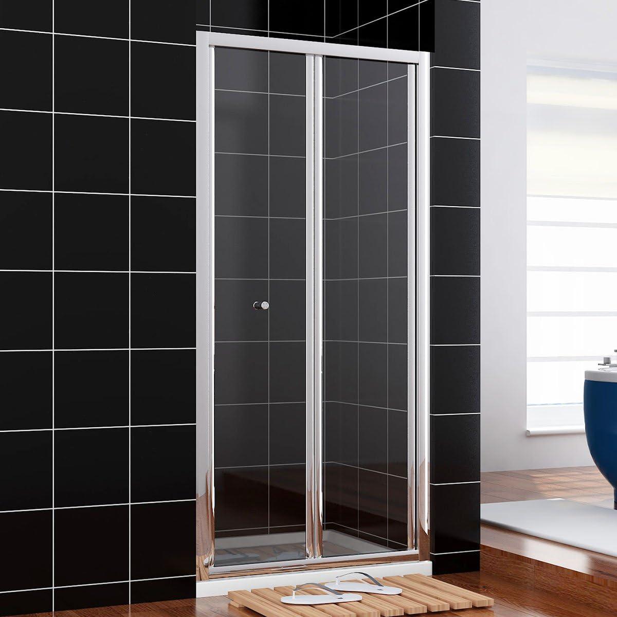 Mampara de ducha de cristal ducha cubículo puerta Reversible ...