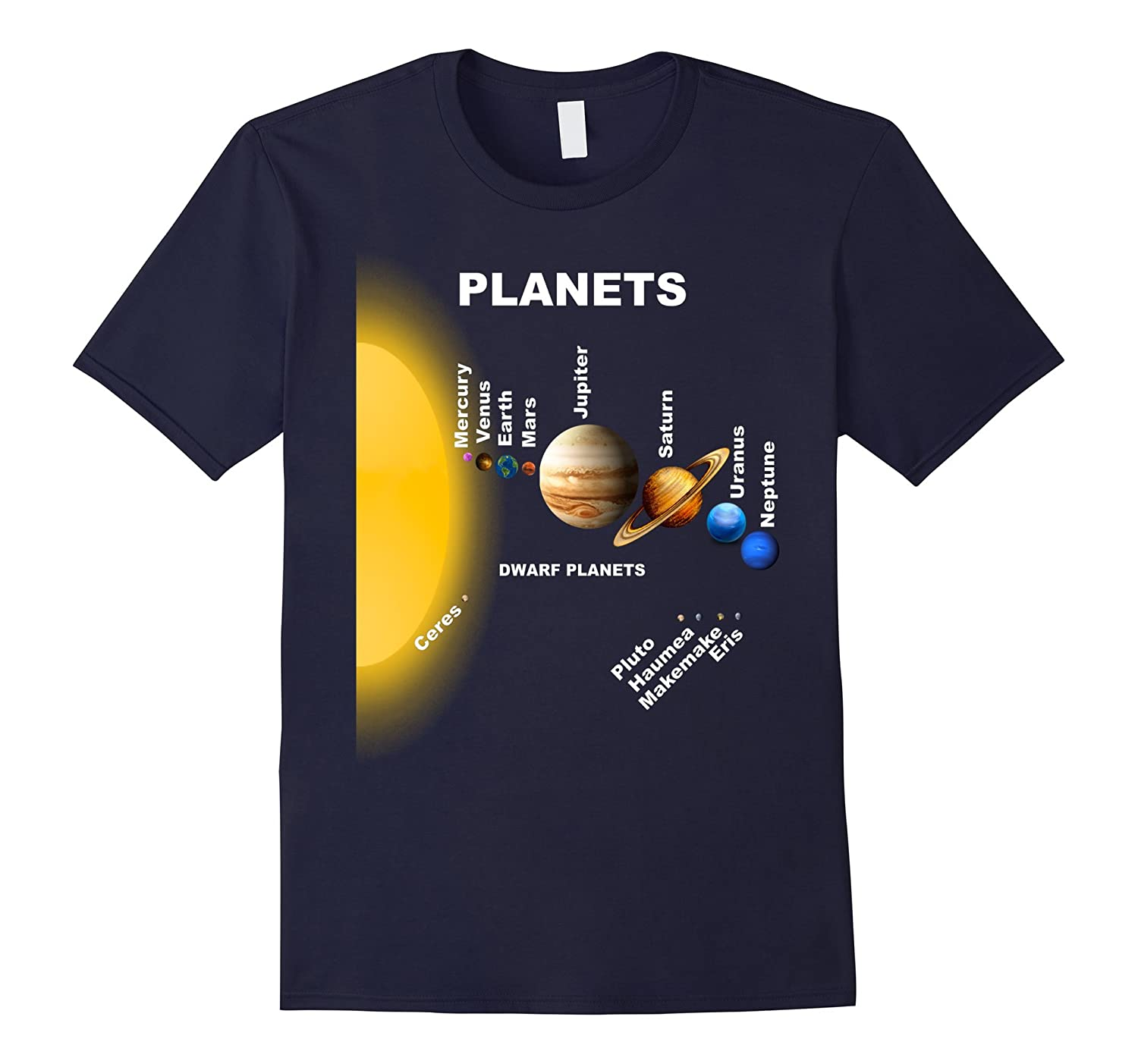 Solar System Shirt Planets Relative Size To The Sun T-Shirt-Art