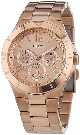 gamme complète d'articles grande qualité bons plans sur la mode Guess - W14553L1 - Vespa Rose Gold - Montre Homme - Quartz Analogique -  Cadran Doré - Bracelet Acier Doré