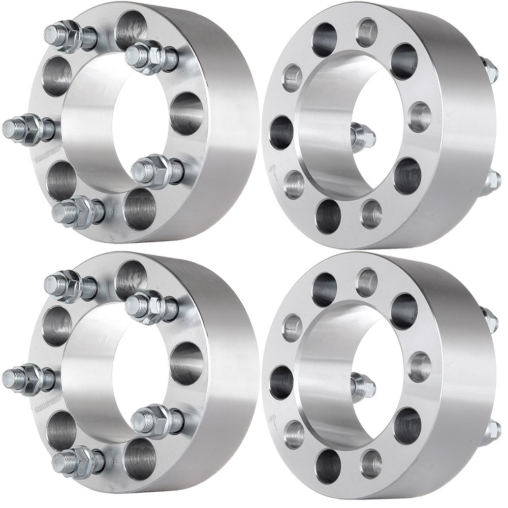 SCITOO 2X 2 Wheel Spacers Adapters 5x4.5 to 5x4.5 |5x114.3mm to 5x114.3mm 1/2' x20 Fits for Ford Galaxie 500 Crown Victoria Explorer Mercury Mountaineer Grand Marquis Jeep Grand Cherokee