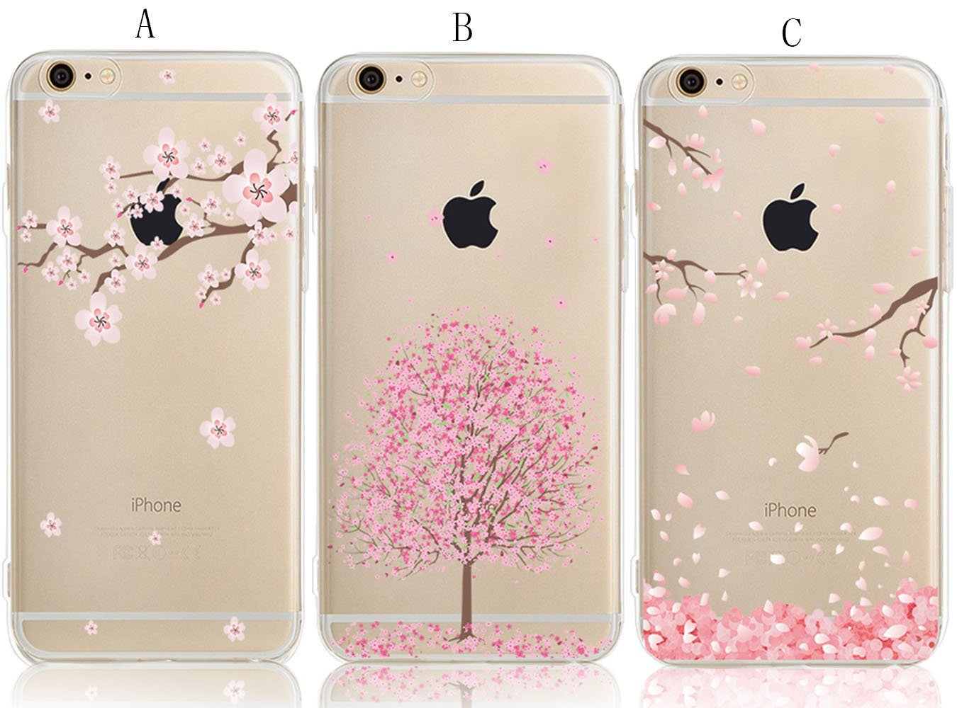 iPhone 6 6S Case with Flowers, [3-Pack] CarterLily Watercolor Flowers Floral Pattern Soft Clear Flexible TPU Back Case for iPhone 6 6S 4.7 - ...