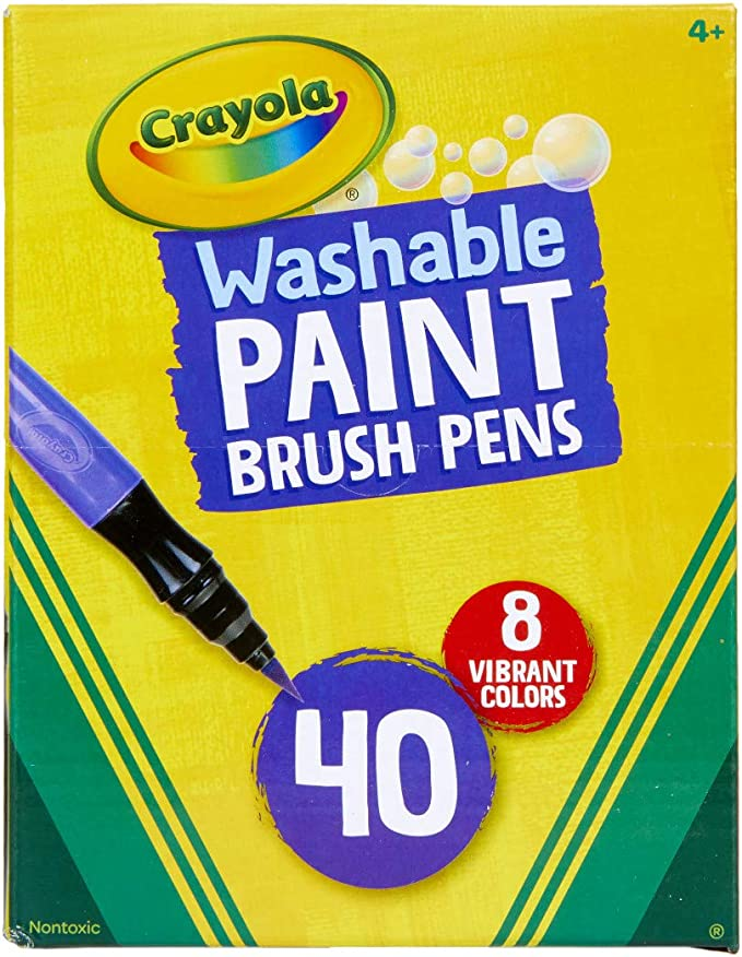 Paint Brush And Pencil Drawing Educational Wall Stickers School  WS-18940