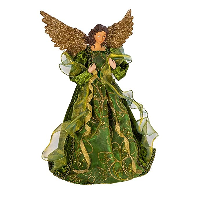 Kurt Adler Kurt S. Adler 16-Inch Polyester Irish Angel Treetop, Multi best Christmas tree toppers