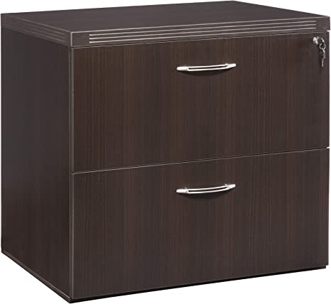 sold separately Mayline Aberdeen 36 Lateral File 2 Hanging File Drawers Letter//Legal Extended Corners for use with Credenza Cherry Tf Return