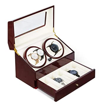 Klarstein Geneva • Estuche de Relojes • Caja para Relojes • para 4 Relojes automáticos •