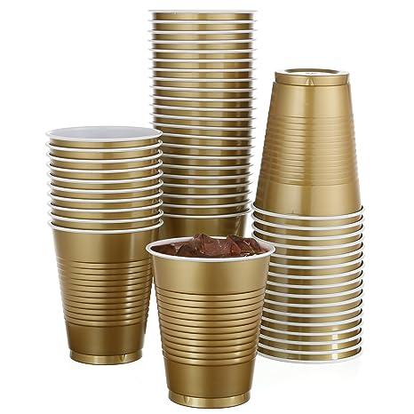Amazon.com: Paquete de 50 vasos de plástico desechables de ...