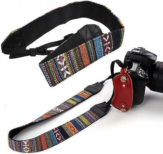 SODIAL(R) Correa de Hombro Cuello de Camara para DSLR Nikon Canon ...