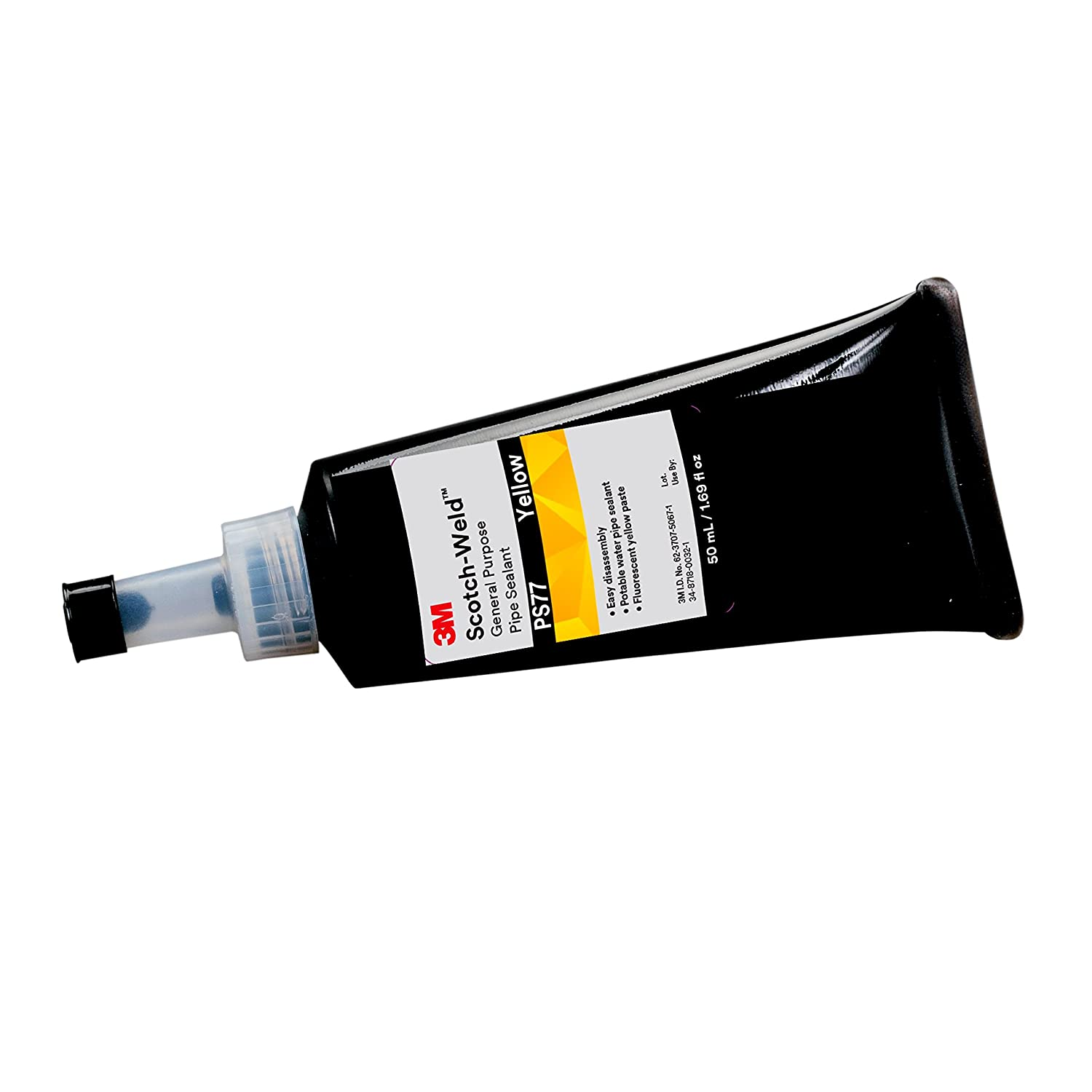 3M Scotch-Weld 99635 General Purpose Pipe Sealant PS77 50 mL Tube, Yellow, 1.69 fl. oz.