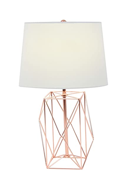 Amazon deco 79 58662 asymmetrical metal wire table lamp white deco 79 58662 asymmetrical metal wire table lamp whitecopper keyboard keysfo Image collections