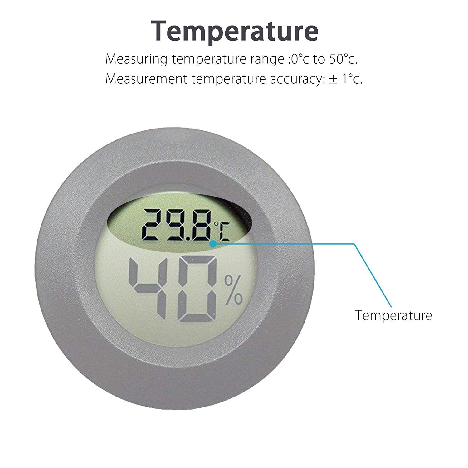 JEDEW 2 Pack Refrigerator Thermometers