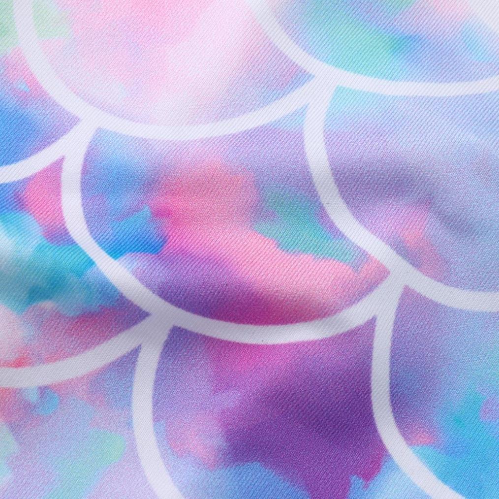 Mounter Maillots de Bain Filles des /écailles de Poisson de B/éb/é Enfants Infantiles Quimpression Color/ée de Maillots de Bain Backless Voler Manchon Bikini Siamois 12Mois-4Ans