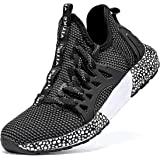 WETIKE Kids Shoes Boys Girls Sneakers Running Tennis Wrestling Athletic Gym Shoes Slip-on Soft Knit Sock Shoes